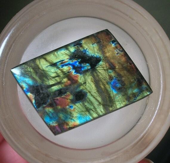 Spectrolite Cabochon Multicolors Blue Green Gold