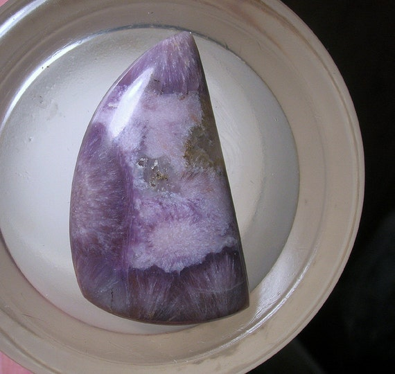35% off Destash Sale Storewide Use Coupon Code MAY2012 at Checkout  Purple and Pink Sheeps Crossing Agate Cabochon With Saginite Sprays