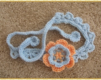 Flower Crochet Headband PATTERN. Fits Baby to Adult
