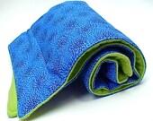 Waterproof padded baby change crib  mat pad - organic cotton fleece and designer cotton print
