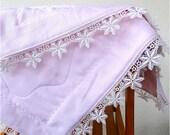 Heirloom silk and organic cotton lap blanket