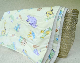 Organic cotton blanket baby toddler bedding