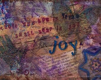 """Sympathy card - """"Sow in tears, reap in joy"""""""