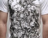 Albrecht Durer - Four Horsemen of the Apocalypse - Mens t shirt (Albrecht Durer shirt )