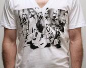 Vader's first Crew - Mens V-Neck t shirt  / Unisex V-Neck t shirt ( Star Wars / Storm Trooper shirt )