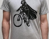 Darth Vader is Riding It - Mens / Unisex T Shirt  printed with ECO ink ( Star Wars Darth Vader bike shirt)