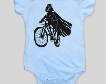 Darth Vader is Riding It - Baby Onesie Bodysuit (Star Wars Baby Clothing)