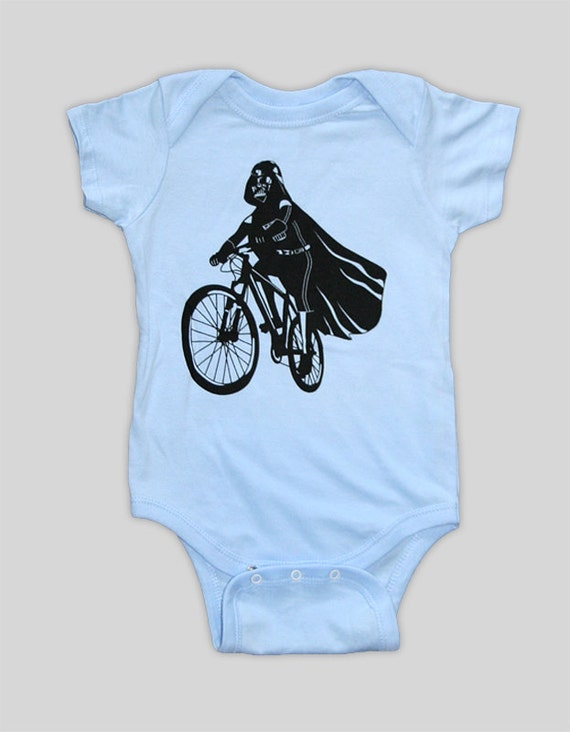 Items similar to Darth Vader is Riding It - Baby Onesie ...