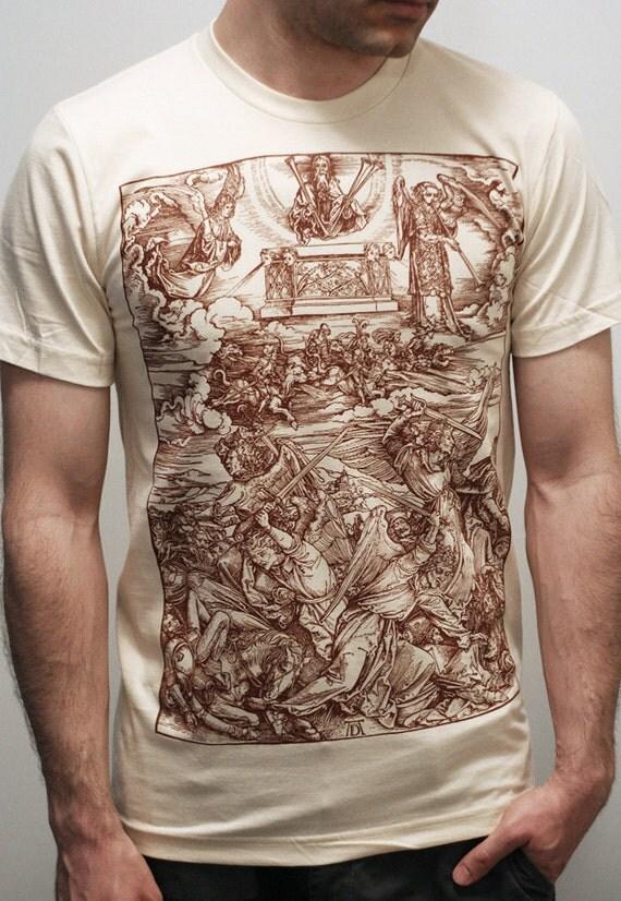 Albrecht Durer - Battle of Angels - American Apparel Mens t shirt  /  Unisex t shirt ( Albrecht Durer t shirt )