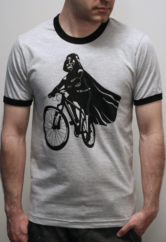 Darth Vader is Riding It - Mens / Unisex T Shirt printed with ECO ink ( Star Wars Darth Vader bike shirt)