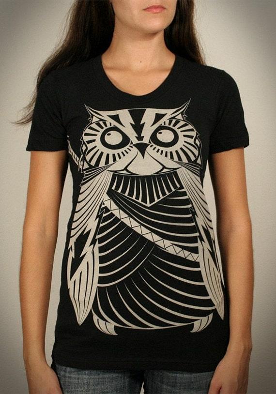 Samurai Owl - Womens Summer T-Shirt (sizes-S, XL)