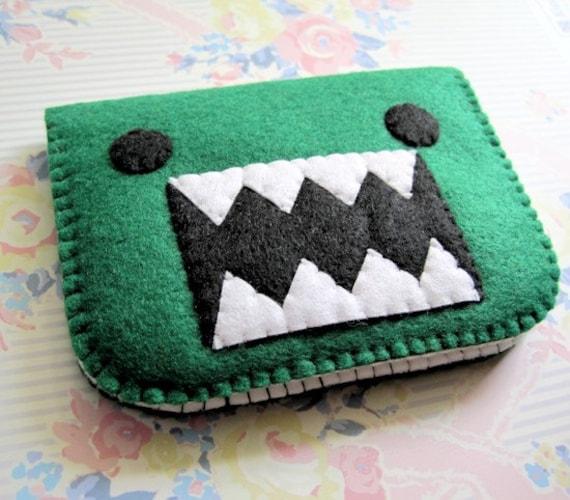 Green Monster Felt Wallet Case Cards Cash