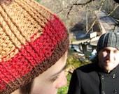 Ski Bum Beanie-Harvest stripe