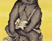 BLUES BEAR 11x16 print signed and numbered
