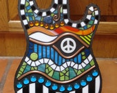 Mosaic Peace Guitar Made to Order