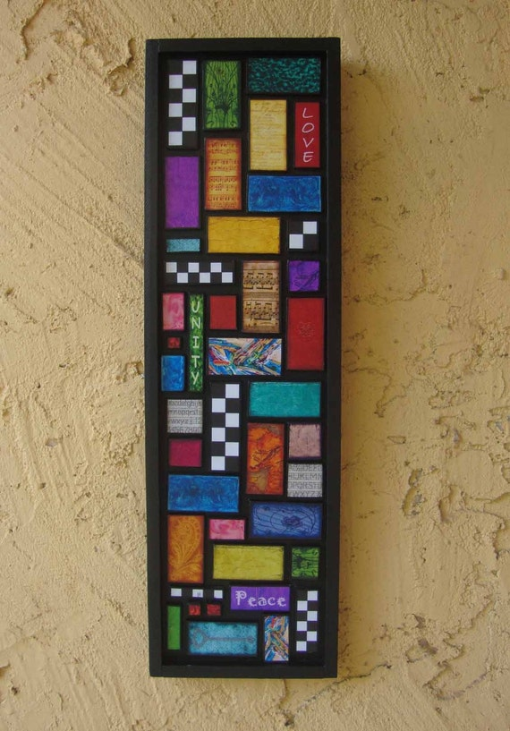 Love, Unity and Peace Mosaic