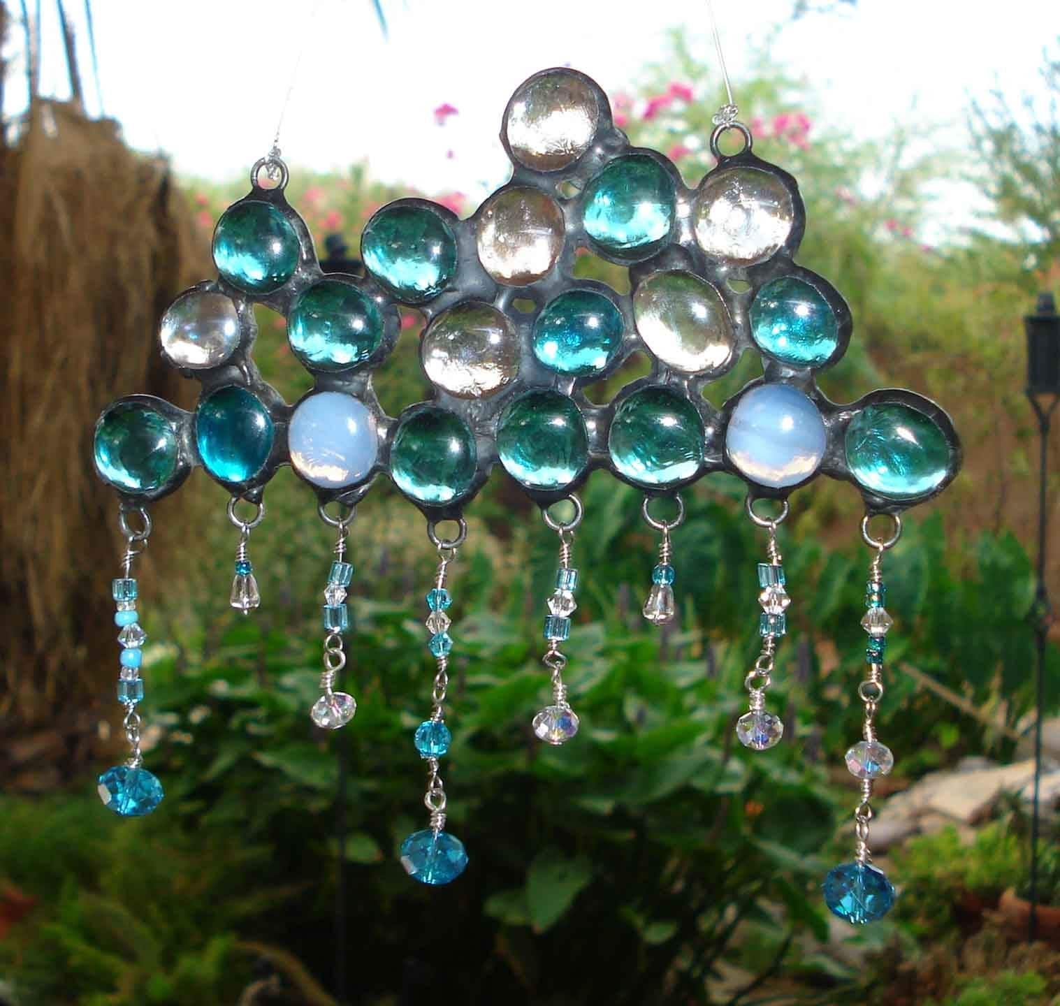 Clouds and rain sun catcher for Glass jewels for crafts