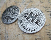 A His and Her Pair of Custom Golf Ball Markers, Personalized Gifts, Custom on BOTH Sides in Fine Silver, Best Gifts for Couples