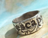 Inspirational Jewelry, Inspirational Silver Ring, Inspirational Ring, ESCAPE or EXPLORE, Fine Silver Ring Size 4 5 6 7 8 9 10 11 12 13 14 15