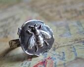BEST Gardeners Gift Idea, BEST GIFTS for Gardeners, Gardeners Jewelry Gift, Honey Bee Ring, Bee Jewelry, Silver Gardener Jewelry Gift Ideas