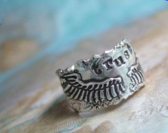 Wedding Ring, Wedding Jewelry, Wedding Band, Trust, Custom Wedding Band, Couples Jewelry Silver Wedding RingSize 5 6 7 8 9 10 11 12 13 14 15