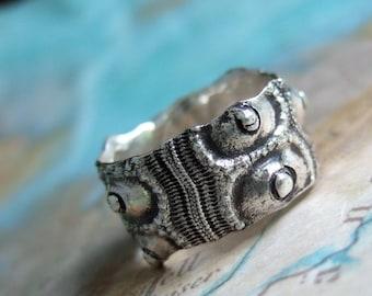 Sea Urchin Ring, Nautical Jewelry, Silver Ring Size 4 5 6 7 8 9 10 11 12 13 14 15, Nautical Rings, Nautical Jewelry Beach Ring Beach Jewelry
