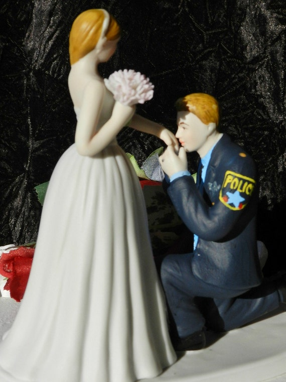 police officer wedding cake topper officer cop groom wedding cake topper 18672