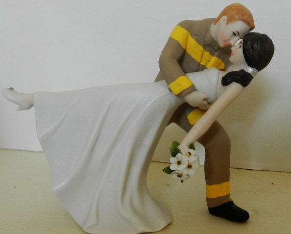 fire truck wedding cake toppers fireman firefighter wedding cake by 14279