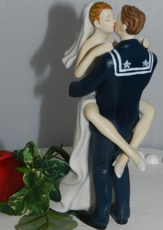 us navy wedding cake toppers articoli simili a usn sailor groom 21518