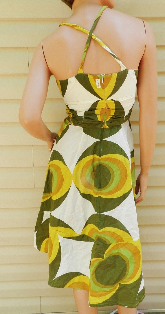 Vintage Funky Sexy 60s 70s style mod party summer dress. brazilian design Mad Men