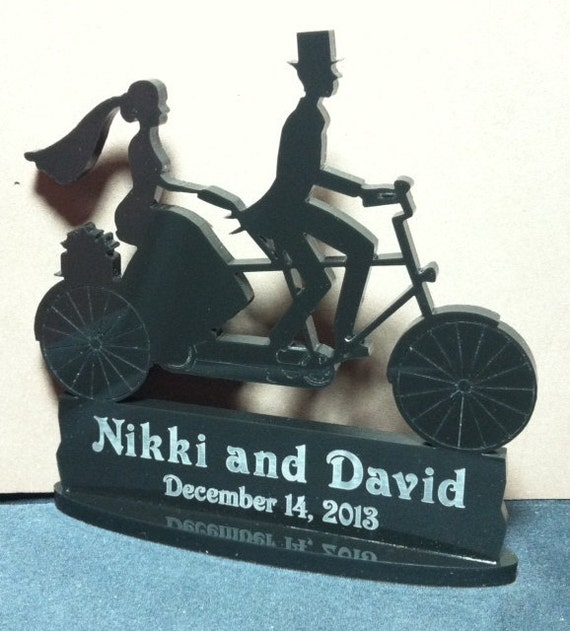 wedding cake toppers bicycle items similar to tandem bicycle bike wedding 26395
