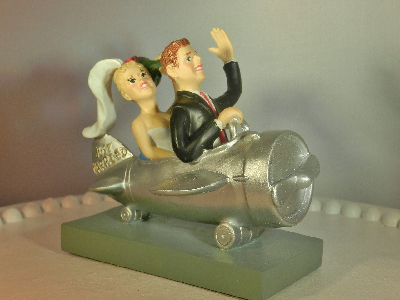 Airplane Pilot Wedding Cake Topper