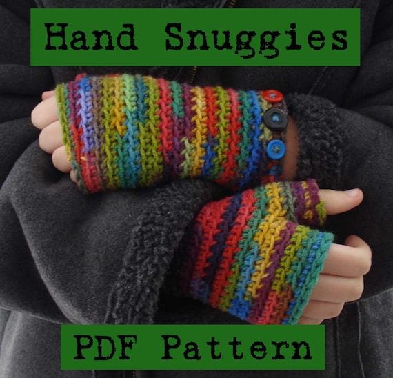 Hand Snuggy Wrist warmers, handwarmers, fingerless gloves, arm warmers, pdf crochet pattern