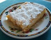 Comfort Food  - Handwritten Letter and My Own Lemon Bar Recipe