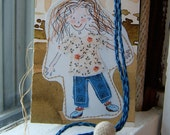 Bookworm ...   Handwritten Letter and Surprise OOAK Upcycled Bookmark