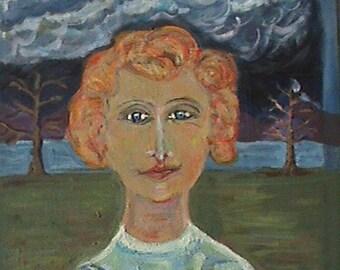 "Original painting,  ""The Gentle Grandmother"""