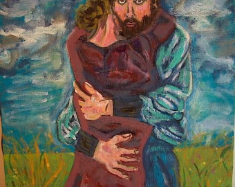 Modern Painting The Embrace Print