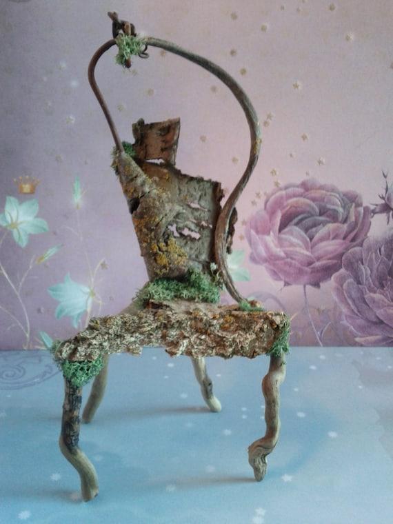 """Fairy House Chair By Fairy Artist, """"Fairy Throne"""""""