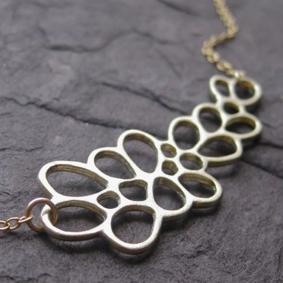 SALE: Lichen Necklace in Recycled Yellow Gold