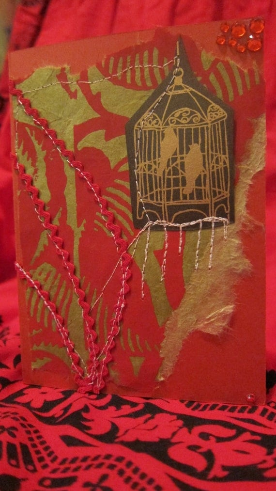 Scarlet Love Birds Card