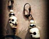 Ossuarian - Bone Skull Earrings