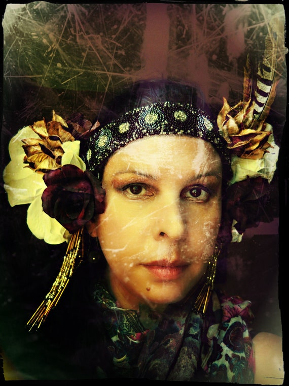 Pan  - Deluxe Performance Costume Tribal Fusion Faerie Headdress - Headband Style