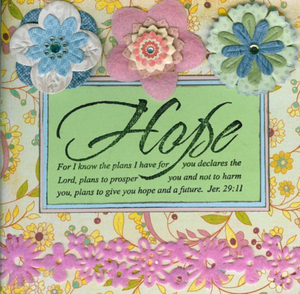 Handmade Stamped Christian Greeting Card With Bible Verse On