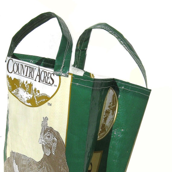 TOTE MARKET Bag Chicken feed bag upcycled