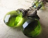 Refresh - Fresh Green and Brass Earrings