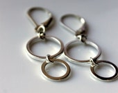Geometric Round Earrings,Sterling Silver Earrings, Infinity, Circles, Rounds, Modern