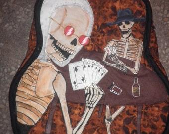 Custom Handmade guitar gig bag soft body case backpack style