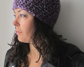 violetta - crochet toque in purple