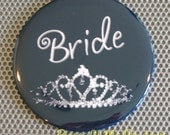 Pocket Mirror OR Magnet OR Button Easel... Your Choice - BRIDE - 3 inch Round