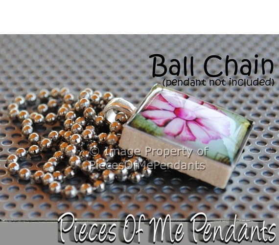 Necklace - Silver Ball Chain - Ballchain - 14, 16, 17, 18, 19, 20, 22 inch - Your Length Choice ... by Pieces Of Me Pendants